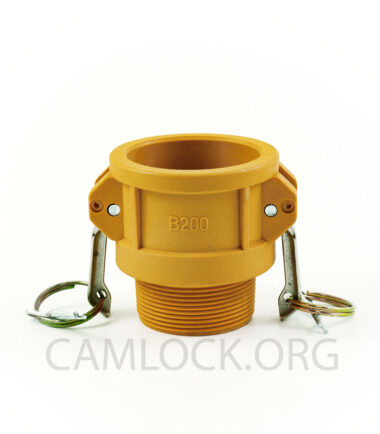 Type B Nylon Camlock Fitting - Female Coupler × Male BSP Thread