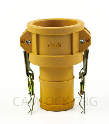 Type C Nylon Camlock Fitting - Female Coupler × Hose Shank