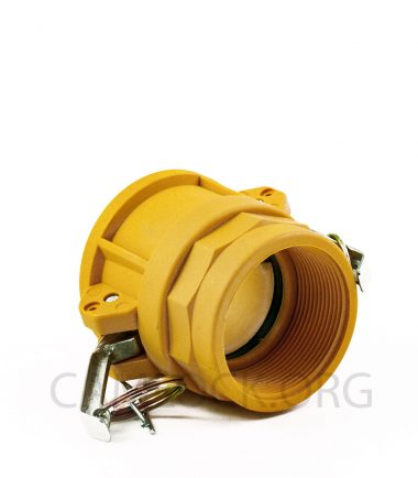 Type D Nylon Camlock Fitting - Female Coupler × Female BSP Thread