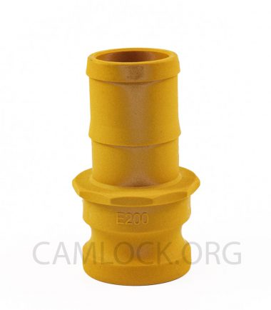 Type E Nylon Camlock Fitting - Male Coupler × Hose Shank