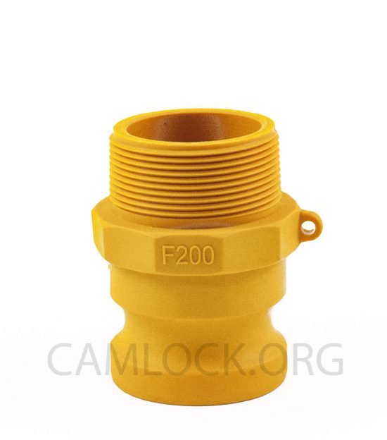 Type F Nylon Camlock Fitting - Male Coupler x Male BSP Thread