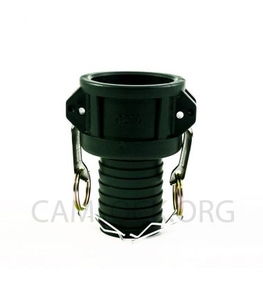 Type C Polypropylene Camlock Coupler - Female Coupler × Hose Shank