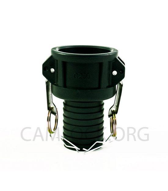 Type C Polypropylene Camlock Coupler - Female Coupler × Hose Shank
