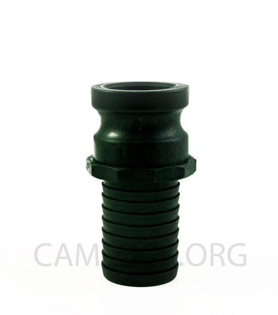 Type E Polypropylene Camlock Coupler - Male Coupler × Hose Shank