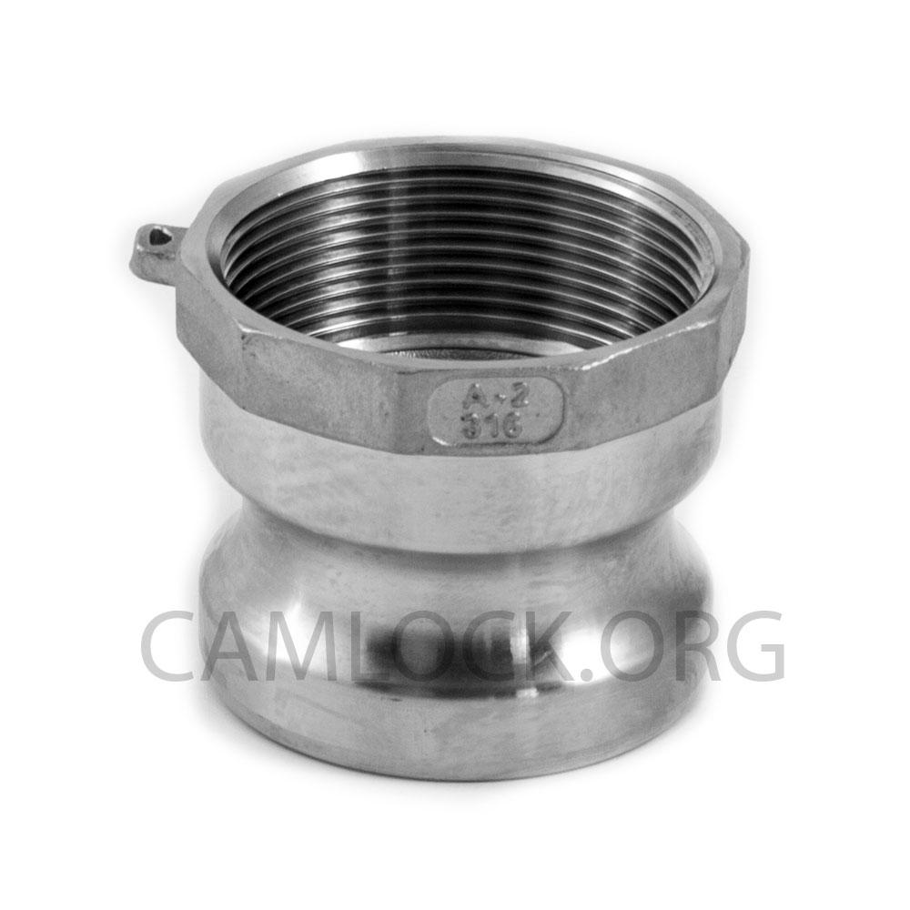 "CAMLOCK 316 STAINLESS STEEL TYPE D 1 1//4/"" FEMALE CAMLOCK x FEMALE BSP 32mm"